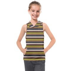 Stripey 12 Kids  Sleeveless Hoodie by anthromahe