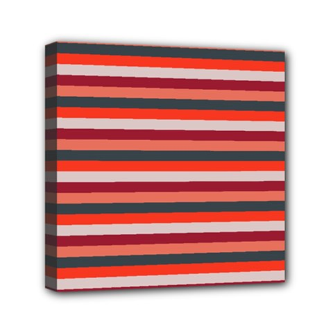 Stripey 13 Mini Canvas 6  x 6  (Stretched)
