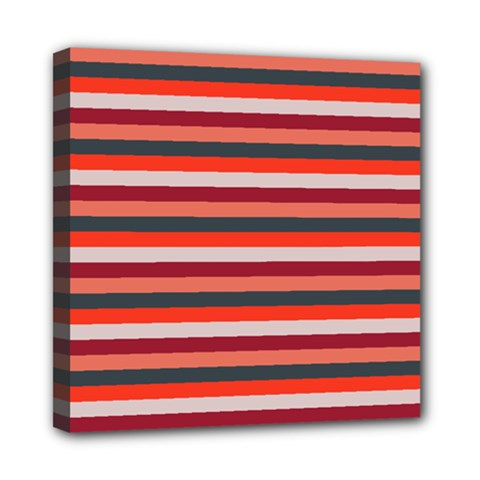 Stripey 13 Mini Canvas 8  x 8  (Stretched)