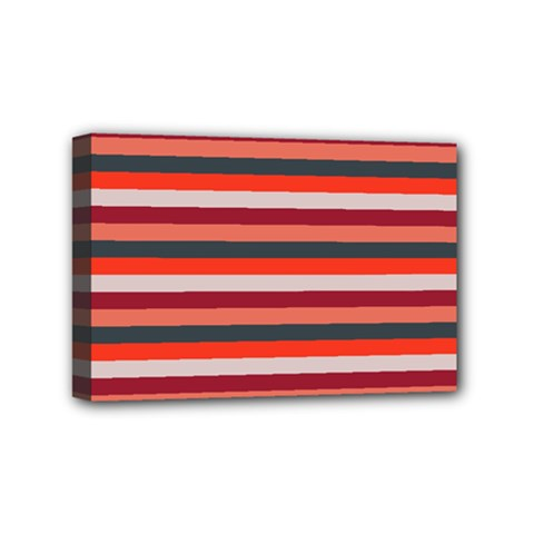 Stripey 13 Mini Canvas 6  x 4  (Stretched)
