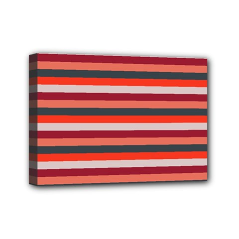 Stripey 13 Mini Canvas 7  x 5  (Stretched)