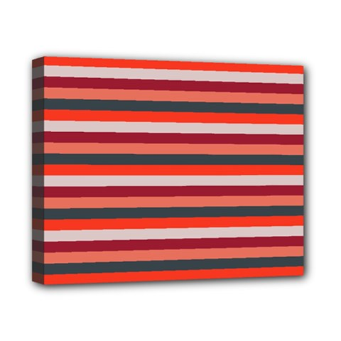 Stripey 13 Canvas 10  x 8  (Stretched)
