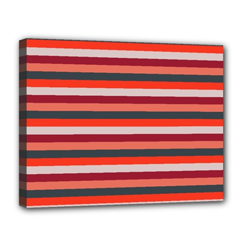 Stripey 13 Canvas 14  x 11  (Stretched)