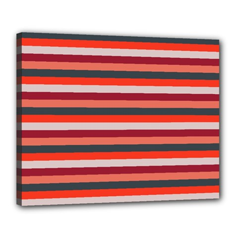 Stripey 13 Canvas 20  x 16  (Stretched)