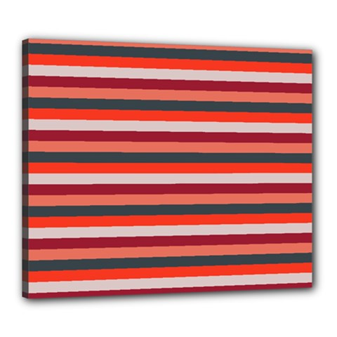 Stripey 13 Canvas 24  x 20  (Stretched)