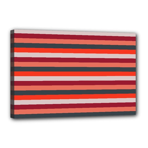Stripey 13 Canvas 18  x 12  (Stretched)