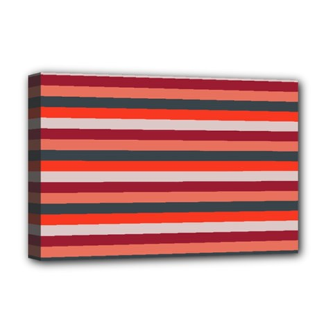 Stripey 13 Deluxe Canvas 18  x 12  (Stretched)