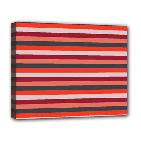 Stripey 13 Deluxe Canvas 20  x 16  (Stretched)
