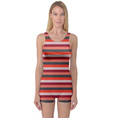 Stripey 13 One Piece Boyleg Swimsuit
