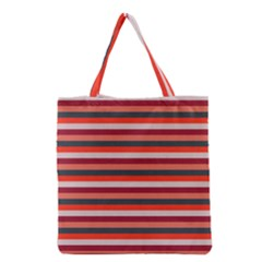 Stripey 13 Grocery Tote Bag