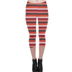 Stripey 13 Capri Leggings