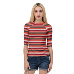 Stripey 13 Quarter Sleeve Raglan Tee
