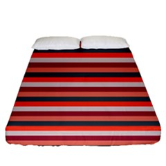 Stripey 13 Fitted Sheet (Queen Size)
