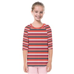 Stripey 13 Kids  Quarter Sleeve Raglan Tee