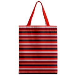 Stripey 13 Zipper Classic Tote Bag