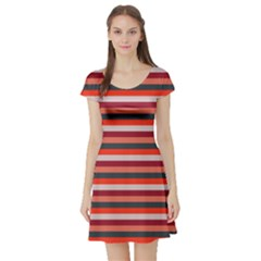 Stripey 13 Short Sleeve Skater Dress