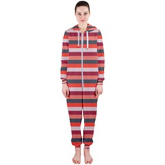 Stripey 13 Hooded Jumpsuit (Ladies)