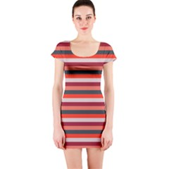 Stripey 13 Short Sleeve Bodycon Dress