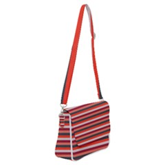 Stripey 13 Shoulder Bag with Back Zipper