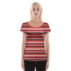 Stripey 13 Cap Sleeve Top