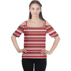 Stripey 13 Cutout Shoulder Tee