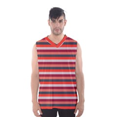 Stripey 13 Men s Basketball Tank Top