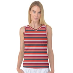Stripey 13 Women s Basketball Tank Top