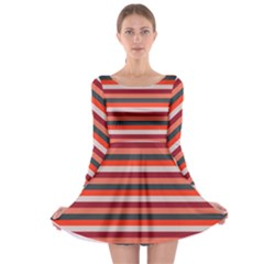 Stripey 13 Long Sleeve Skater Dress