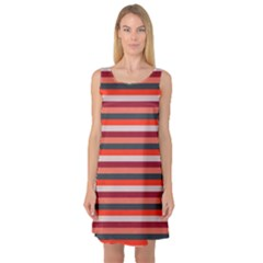 Stripey 13 Sleeveless Satin Nightdress