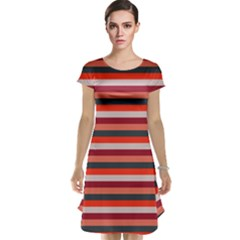 Stripey 13 Cap Sleeve Nightdress