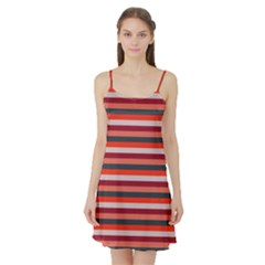 Stripey 13 Satin Night Slip