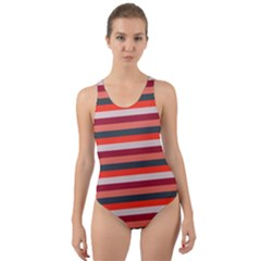 Stripey 13 Cut-Out Back One Piece Swimsuit