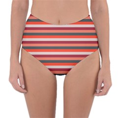 Stripey 13 Reversible High-Waist Bikini Bottoms
