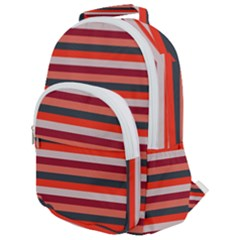 Stripey 13 Rounded Multi Pocket Backpack