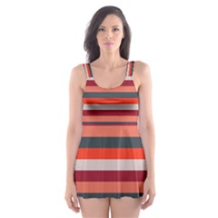 Stripey 13 Skater Dress Swimsuit
