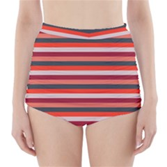 Stripey 13 High-Waisted Bikini Bottoms