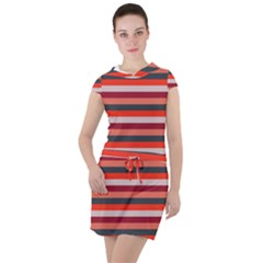 Stripey 13 Drawstring Hooded Dress
