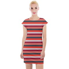 Stripey 13 Cap Sleeve Bodycon Dress