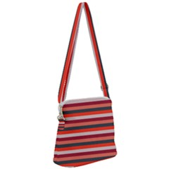 Stripey 13 Zipper Messenger Bag