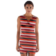 Stripey 13 Wrap Front Bodycon Dress