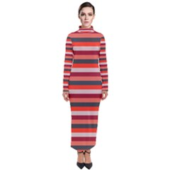 Stripey 13 Turtleneck Maxi Dress