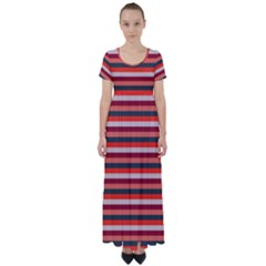 Stripey 13 High Waist Short Sleeve Maxi Dress