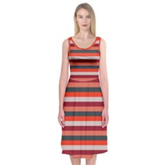 Stripey 13 Midi Sleeveless Dress
