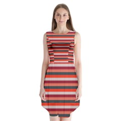 Stripey 13 Sleeveless Chiffon Dress