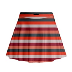 Stripey 13 Mini Flare Skirt