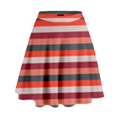Stripey 13 High Waist Skirt
