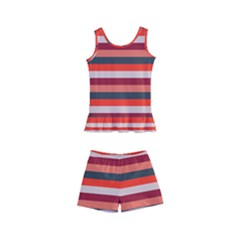 Stripey 13 Kids  Boyleg Swimsuit
