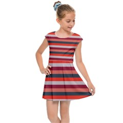 Stripey 13 Kids  Cap Sleeve Dress