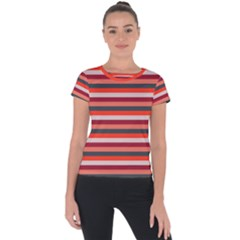 Stripey 13 Short Sleeve Sports Top