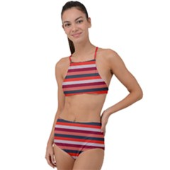 Stripey 13 High Waist Tankini Set